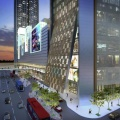 1 Sentrum office tower is also attached to the 1st 'Green' shopping mall